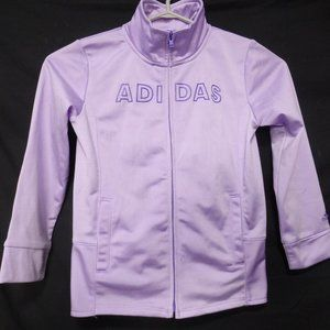 ADIDAS, size 6, lilac zip up jacket *light stain